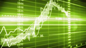 Finansiell graf på en datorbildskärmskärm royaltyfri illustrationer