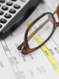 finansiell granskning Arkivbilder