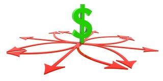 finansiell hard för beslut royaltyfri illustrationer