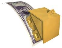 finansiell husspänning stock illustrationer