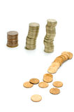 finansiell kollaps Royaltyfria Bilder
