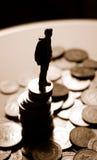 finansiell kris Arkivfoton