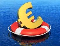 Finansiell kris i det Europa begreppet Royaltyfria Foton