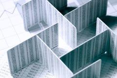 Finansiell labyrint Arkivfoton