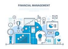 Finansiell ledning, analys, marknadsforskning, insättningar, bidrag, besparingar, statistik som redovisar stock illustrationer