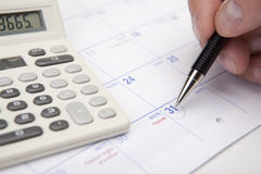 finansiell månadplanläggning för slut Royaltyfri Bild