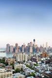 Finansiell mitt av Manhattan, New York Fotografering för Bildbyråer
