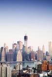 Finansiell mitt av Manhattan, New York Arkivfoton