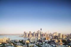 Finansiell mitt av Manhattan, New York Arkivbilder