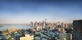 Finansiell mitt av Manhattan, New York Arkivbild