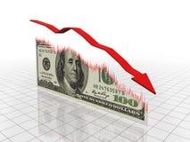 finansiell nedgång Fotografering för Bildbyråer
