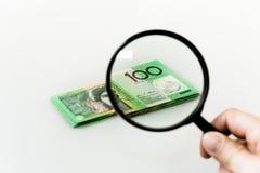 Finansiell noggrann undersökning royaltyfri bild