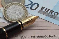 Finansiell nyheterna fotografering för bildbyråer