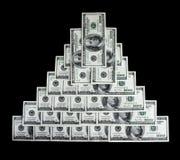 finansiell pengarpyramid fotografering för bildbyråer