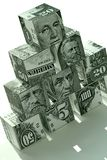 finansiell pengarpyramid för begrepp Arkivfoton