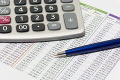 Finansiell planläggning arkivbild