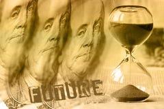 Finansiell planläggning och släkt serie för bankrörelsen Arkivbild