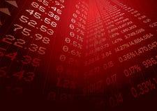 finansiell prognos Arkivbilder