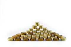 finansiell pyramid Arkivbilder