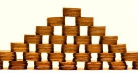 finansiell pyramid Arkivbild