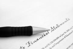 finansiell rapport Royaltyfri Fotografi