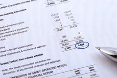 finansiell rapport arkivfoto
