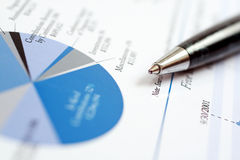 finansiell rapport Fotografering för Bildbyråer
