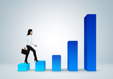 Finansiell rapport & statistik. Begrepp för affärsframgång. Arkivfoton