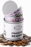 Finansiell reserv Arkivfoto