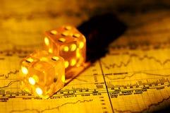 finansiell risk royaltyfria bilder