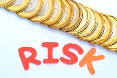 finansiell risk arkivbild