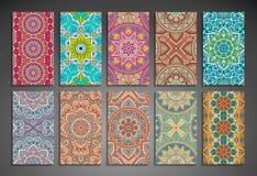 finansiell serie för affärskort dekorativ elementtappning Royaltyfri Foto