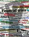 finansiell skugga för kris Arkivbild