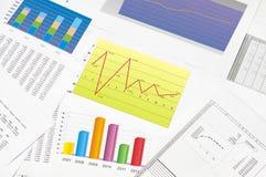 Finansiell statistik Royaltyfria Foton