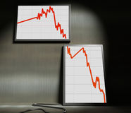 finansiell statistik 3d royaltyfria foton