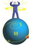 finansiell ström Arkivbild