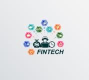 Finansiell teknologi för tecken Arkivfoto
