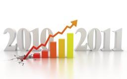finansiell tillväxt för affärsidé royaltyfri illustrationer