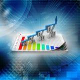 Finansiell tillväxt i procentsats Arkivfoto