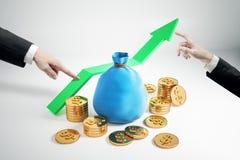 Finansiell tillväxt och rikt begrepp royaltyfri illustrationer