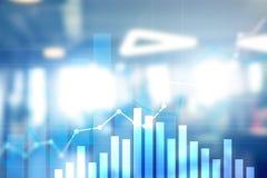 Finansiell tillväxtgraf Försäljningsförhöjning, begrepp för marknadsföringsstrategi arkivbilder