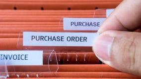 Finansiell uppehälle för avtal för köpbeställningsdokument i mappen royaltyfri foto
