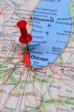 finansiella center chicago Fotografering för Bildbyråer