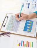 Finansiella data Arkivbilder
