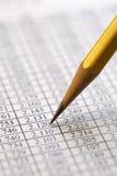 Finansiella data som analyserar - materielbild Royaltyfria Foton