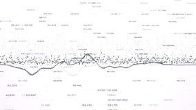 Finansiella diagram och diagram som visar ökande vinster Arkivfoto