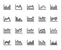 Finansiella diagramsymboler Stearinljuspinnegraf vektor royaltyfri illustrationer