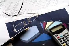 finansiella hjälpmedel Royaltyfria Foton