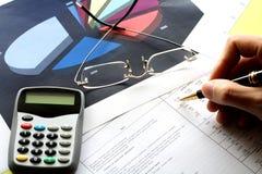 finansiella hjälpmedel Arkivbilder