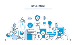 Finansiella investeringar, säkerhet av insättningar, garantibesparingar stock illustrationer